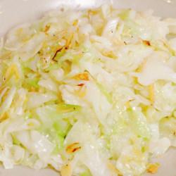 虾米炒包菜丝