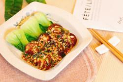 浇汁香菇炒青菜