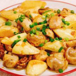 蚝油口蘑茭白
