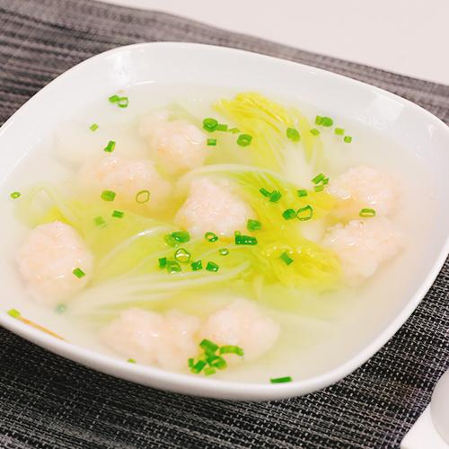 小白菜虾滑汤