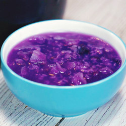 银耳紫薯粥