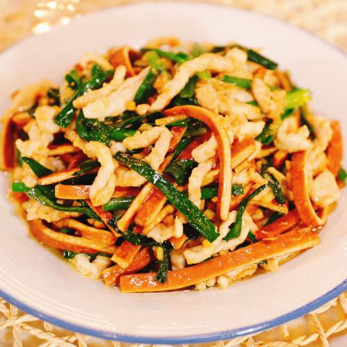 韭菜香干肉丝