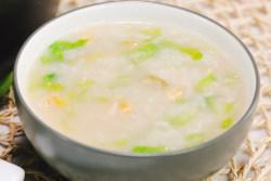 皮蛋生菜粥