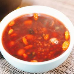黑米黑豆莲子粥