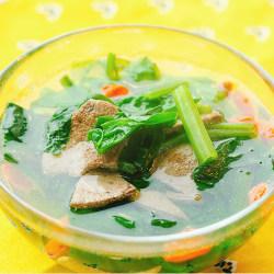 枸杞菠菜猪肝汤