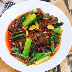 蒜苗炒牛肉