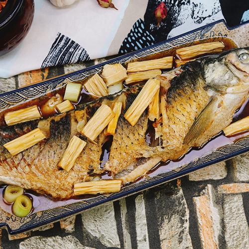 腐竹焖草鱼