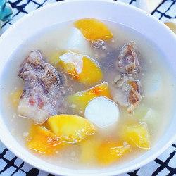 苹果淮山排骨汤
