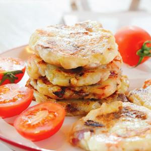 火腿香菇土豆饼
