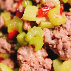 芹菜甜椒牛肉