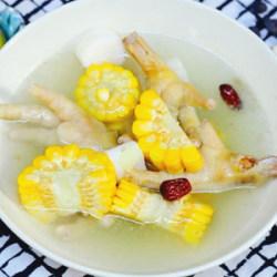 玉米鸡爪淮山汤
