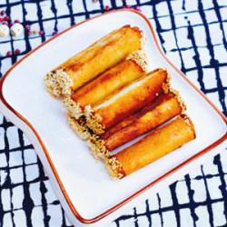 芝麻香芋卷