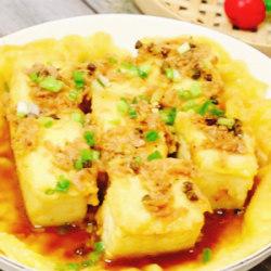 豆腐鸡蛋锅贴