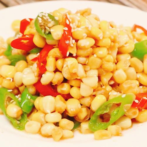 尖椒炒玉米粒