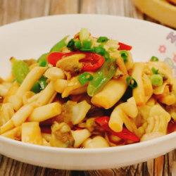 海鲜菇炒蛤蜊肉