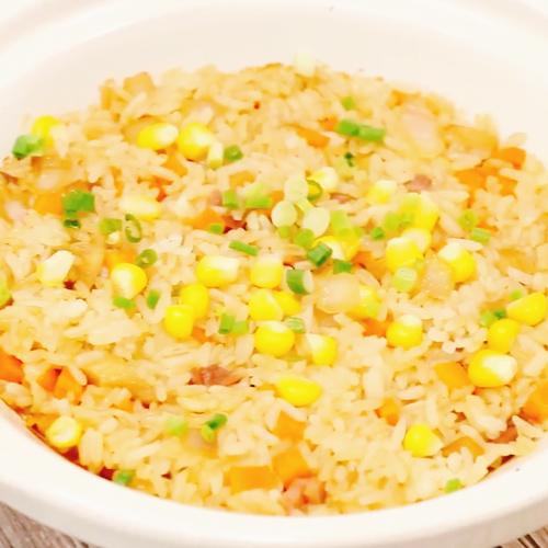 金华火腿蘑菇焖饭