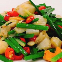 韭苔炒扇贝肉