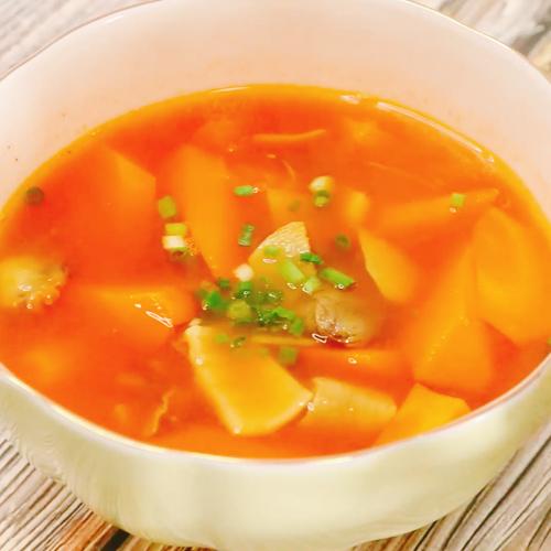 牛杂萝卜汤