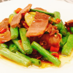 金华火腿炒四季豆