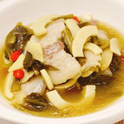 雪菜咸肉炖笋