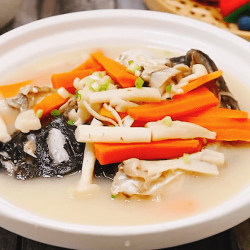 鲜菇鱼头汤