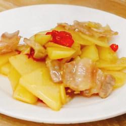 咸肉炒土豆片