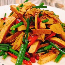 虾米豆干炒韭苔