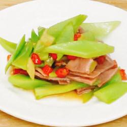 金华火腿炒莴苣