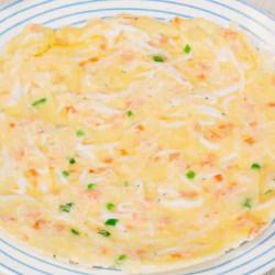 萝卜银鱼鸡蛋饼
